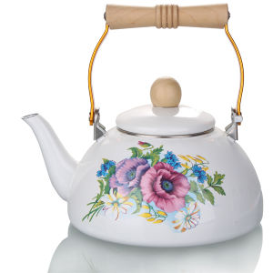 1.5L High Quality Enamel Teapot pictures & photos