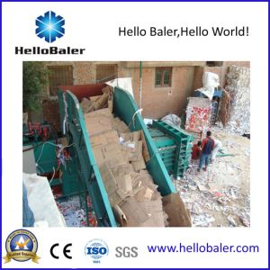 Horizontal Automatic for Waste Paper Baler with Conveyor pictures & photos