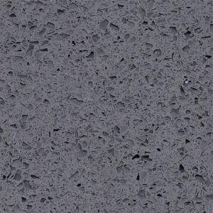 Low Price Polished Engineered Grey Sparkling Quartz Stone