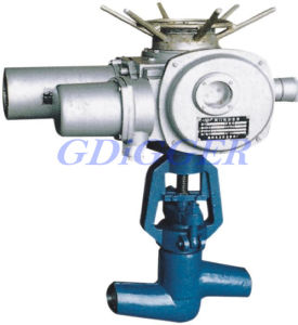 Welded Electric High Temperature High Pressure Gas Control Globe Valve
