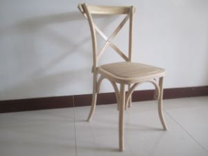 Wholesale Indoor Cross Back Woven Wood Seat Chair pictures & photos