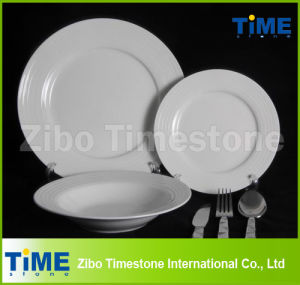32PC Fine Porcelain White Dinner Set with Cutlery Set (WD-004) pictures & photos