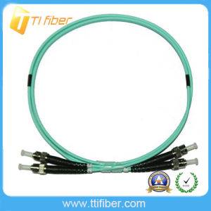 Multimode Om3 50/125 Duplex St/Upc-St/Upc Fiber Optic Patch Cord pictures & photos