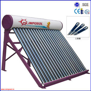 Non-Pressurized Stainless Steel Solar Hot Water Heater pictures & photos