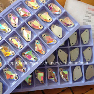 Axe Shape Crystal Ab Rhinestone Flat Back Sew on Galactic (SW-Galactic 9*14mm) pictures & photos
