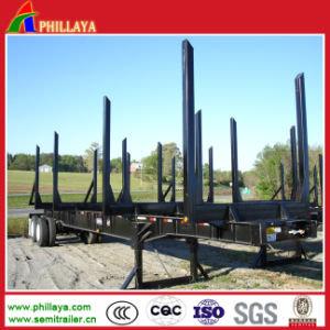 Two Axles 40FT Wood Trailer pictures & photos