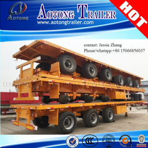 40ft Container Flatbed Semi Trailer with Two-Axle or Tri-Axle pictures & photos