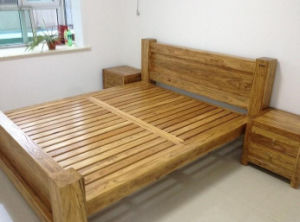 Solid Wooden Bed Modern Double Beds (M-X2249) pictures & photos
