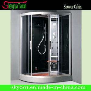Prefab Wooden Cushion Bathroom Glass Steam Shower Enclosure (TL-8804) pictures & photos