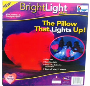Heart Bright LED Light Pillow pictures & photos
