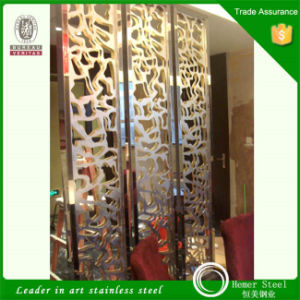 Mirror Color Laser Cut Stainless Steel Sheet for Screen Home Decoration pictures & photos