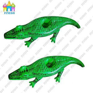 Water Inflatable PVC Crocodile Drink Cup Floats Holder in Factory pictures & photos