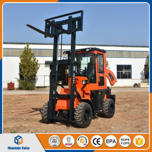 Lifting Equipment Mini Diesel Forklift Rough Terrain Forklift (3t) pictures & photos