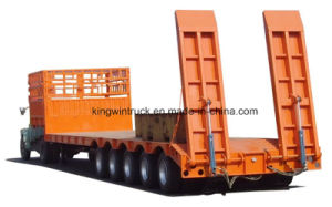 China Brand 100tons Multi-Axles Low Bed Semi Trailer pictures & photos