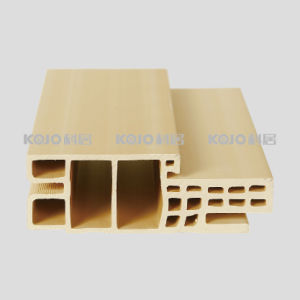 Customized Eco-Friendly Raw Material PVC Covered WPC Door Frame (PM-120E-2) pictures & photos