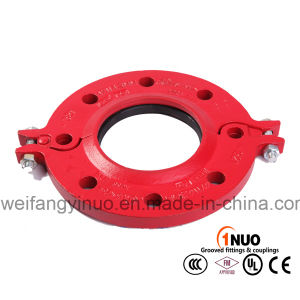 FM/UL/Ce Approved Ductile Iron Epoxy Pipe Fittings Cast Iron Split Flange-Pn16 ANSI Class 150 pictures & photos