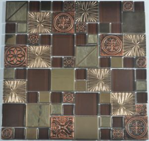 Glass, Foil Back and Metal Mix Glass Mosaic for Mexico Market pictures & photos