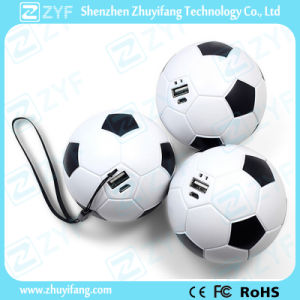 Multicolor Football Design 2600mAh Power Bank (ZYF8043)