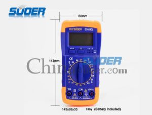 Suoer Universal Electric Digital Multimeter LCD Analog Multimeterh Suoer (SD-830L) pictures & photos