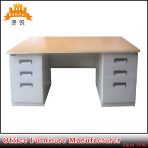 Jas-047 Steel Office Desk with Locking Drawers pictures & photos