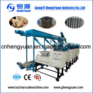High Efficiency Wood Sawdust Screw Press Briquette Machine pictures & photos