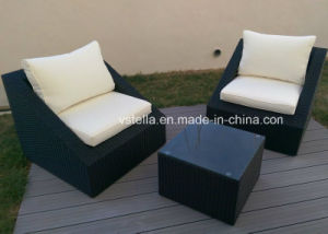 Outsunny 3-Piece Outdoor Stacking Rattan Wicker Patio Chair pictures & photos