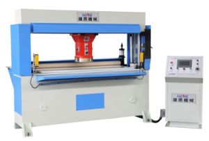 CNC Control Hydraulic Traveling Head Clicker Press Cutting/Shoe Cutting Press Machine pictures & photos