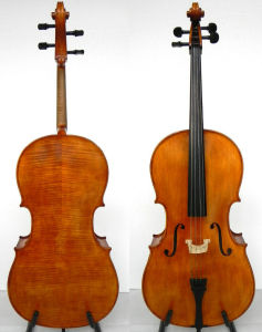 Master Cello! Oil Varnish! Nice Flame Cello! (Lky100)