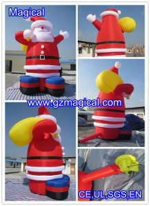 Affable Inflatable Santa Claus Ornament with Gift Bag (MIC-500) pictures & photos