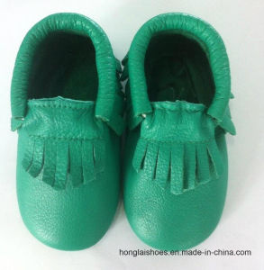 Children′s Indoor Shoes Leather Soft Bottom