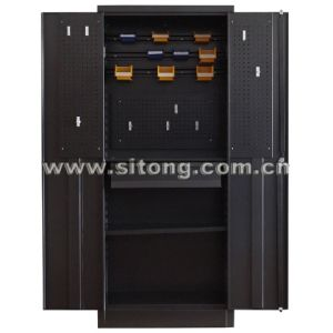 Two-Door Metal Steel Locker Cabinet pictures & photos