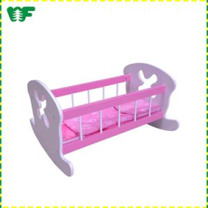 China Wholesale High Quality Safe Wooden Doll Bassinet pictures & photos