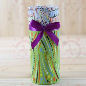 Custom Design Tea Paper Tube Gift Packaging Box with Ribbon pictures & photos