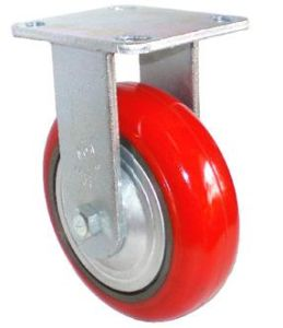 EH07 Fixed PU on Cast Iron Caster (Bright Red) pictures & photos