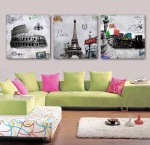 3 Panel Wall Art Oil Painting Abstract Painting Home Decoration Canvas Prints Pictures for Living Room Framed Art Mc-264 pictures & photos