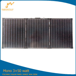 High Efficiency TUV CE Standard 3*50W Flexible Portable Solar Panel pictures & photos