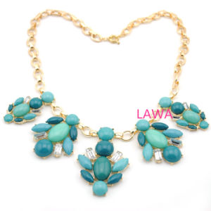 Gold Plating Lady Resin Beads Charming Pendants Female Necklace Aw254