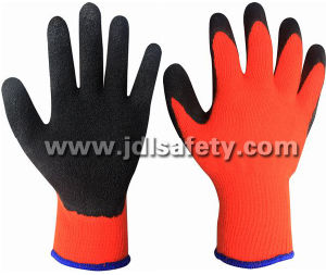 Latex Work Glove with Brushed Inside for Warm (LY2036) pictures & photos