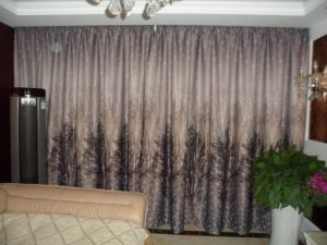 Blackout Printed Pleated Curtain