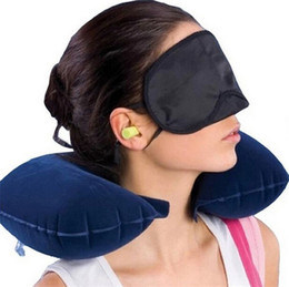 Travel Flight Kit with Inflatable Neck Pillow, Eye Mask & Ear Plugs pictures & photos