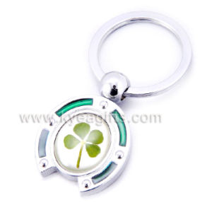 Real Four Leaf Clover Key Chain