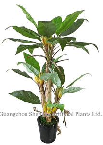 Sj Artificial Gloden Lotus (green plant for indoor&outdoor decoration)
