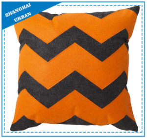 Orange Gray Printed Polyester Filled Cushion pictures & photos