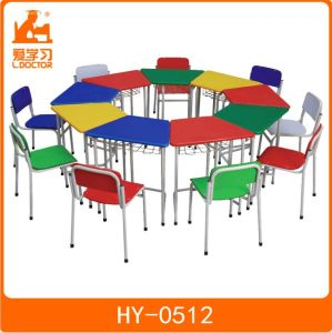 Chid Study Desk with Chair for Primary School pictures & photos
