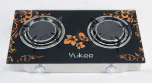 2 Burners Tempered Glass Gas Stove (YD-2GT05)