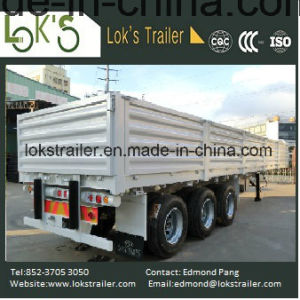 40 Feet 3 Axles Walled Soil Trailer pictures & photos