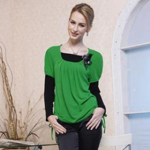 Fashion Lady′s Cotton T-Shirts 11s171