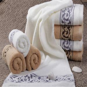 100%Cotton Solid Color Satin Band Towel Set