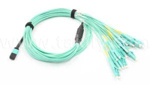 12/24/48 Cores MTP/MPO-LC Duplex 50um 3m Om3 MPO Fiber Optical Cable pictures & photos