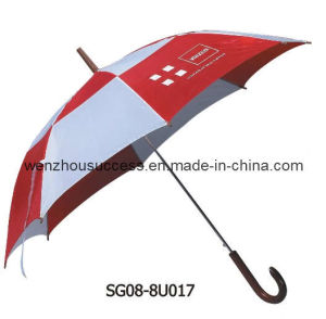 30′*8k Auto Open Double Layer Straight Golf Umbrella for Promotion pictures & photos